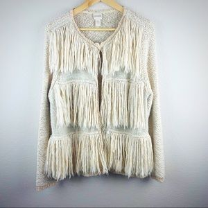 Chico's KYLEIGH FRINGE CARDIGAN